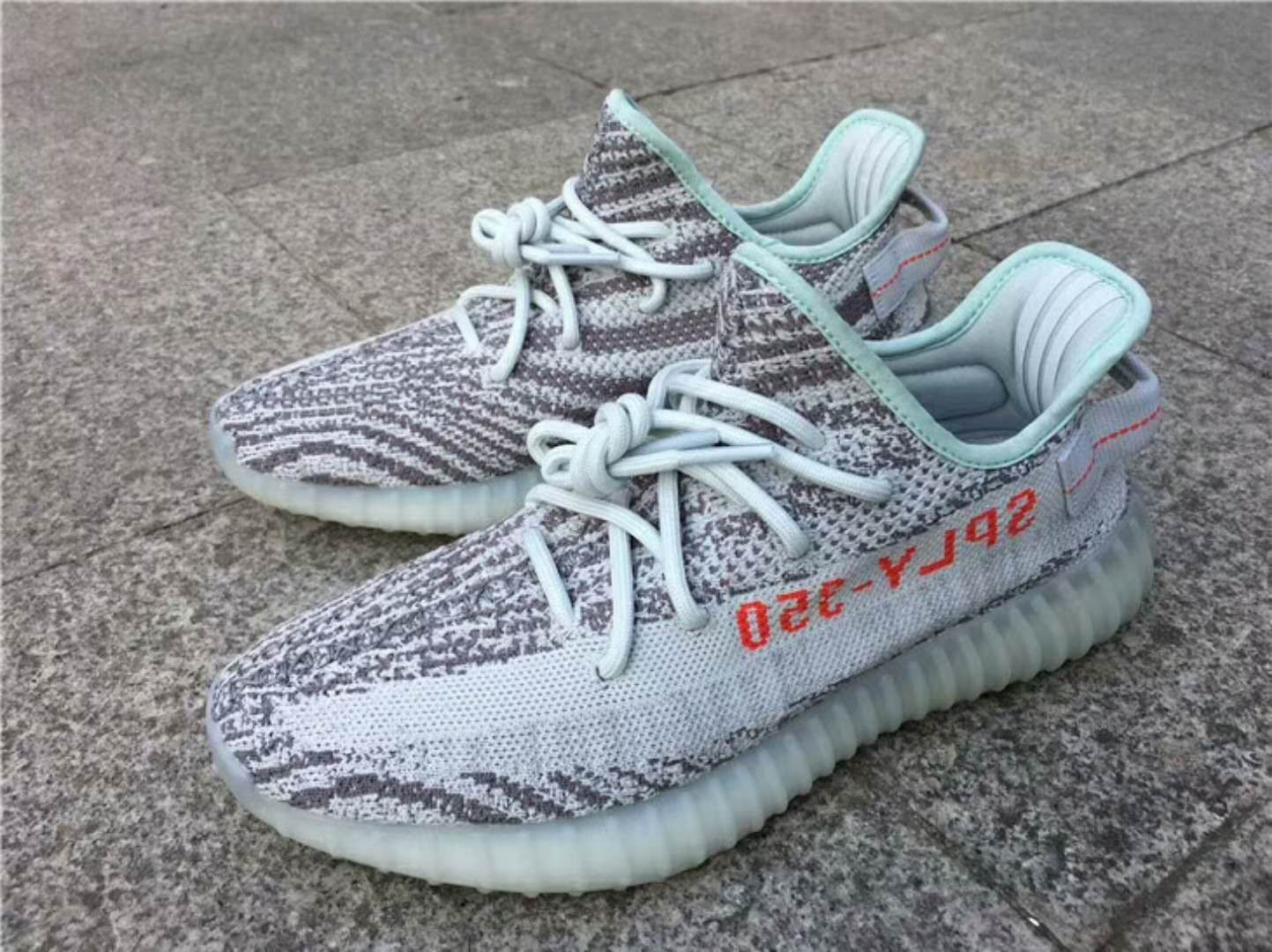 "finest selection 8b3cf 4184d Adidas Yeezy Boost 350 V2 Blue Tint"" B37571"