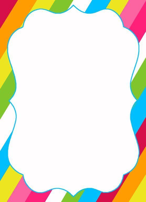 rainbow party invitation template