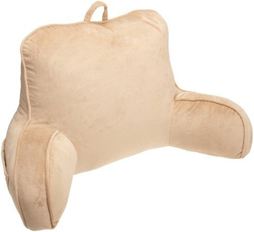 $26.44-$34.99 Vintage Plush Bedrest provides a functional pillow that allows anyone to lay in bed and read work or just watch TV comfortably.  Jumbo Cord detail makes it look as good as it is functional.  There is also a handle on the top to make it easy to move from room to room as you wish.  Also includes a great side pocket to store iPods, eyeglasses or TV controllers.