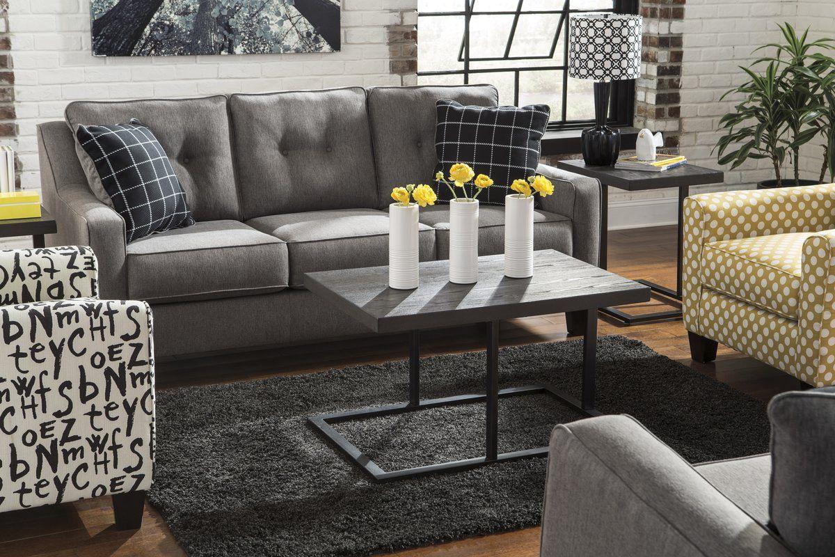 Best Brindon Queen Sleeper Sofa Charcoal Living Rooms Living 400 x 300