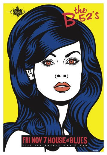 Scrojo The B 52 S B 52s Poster Concert Poster Art Concert Posters Gig Posters