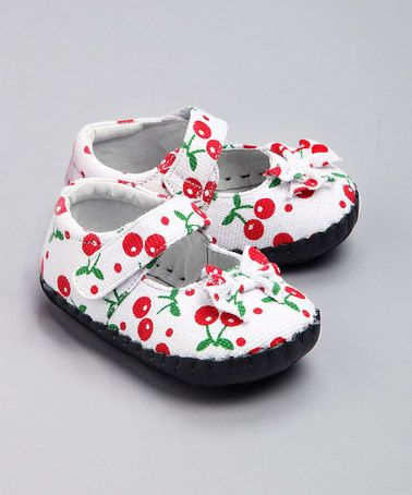 Take A Look At This White Cherry Maiya Mary Jane By Jemos Footwear