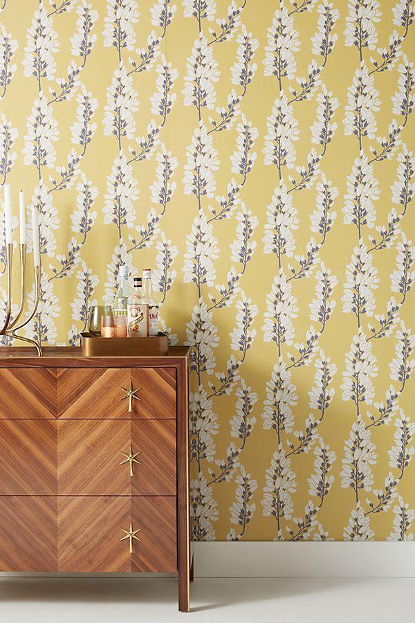 Heart Breaker Wallpaper by Mitchell Black in Yellow, Wall
