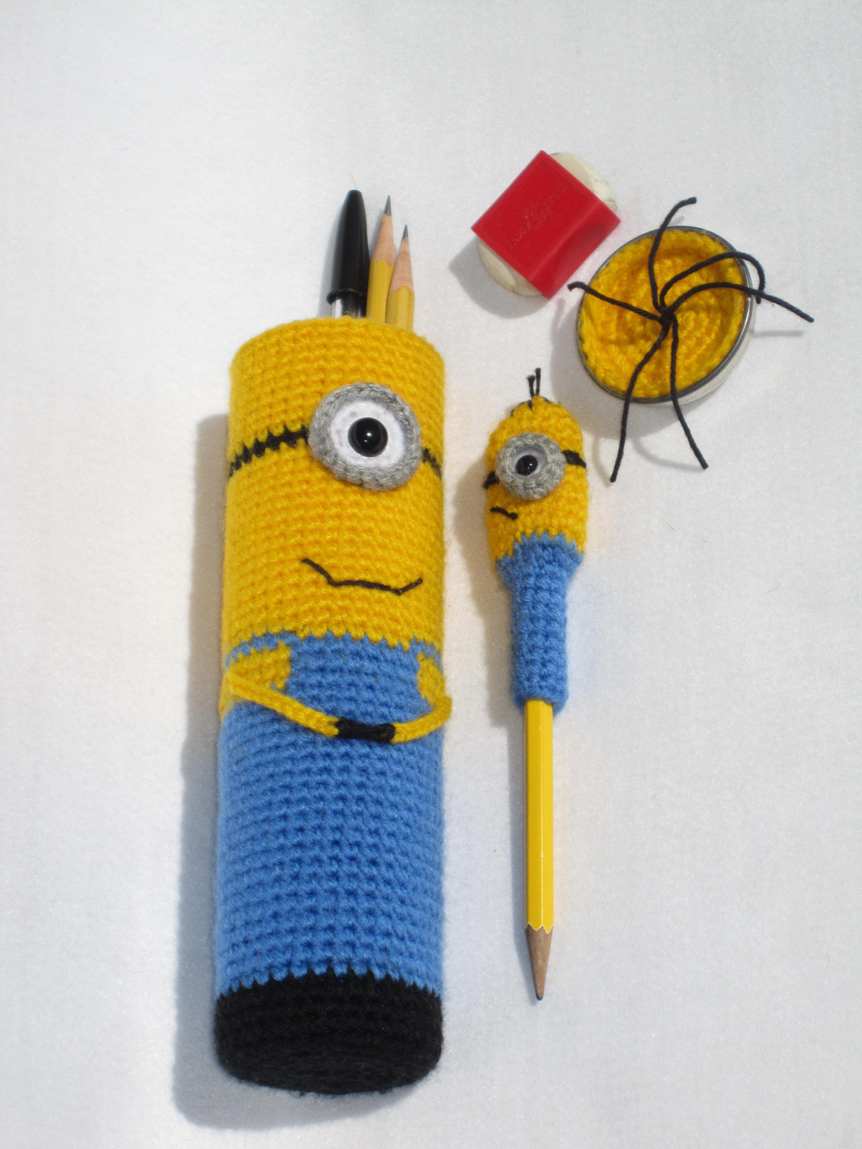 Minion pencil case | Tejidos | Pinterest | Cartucheras, Tejido y ...