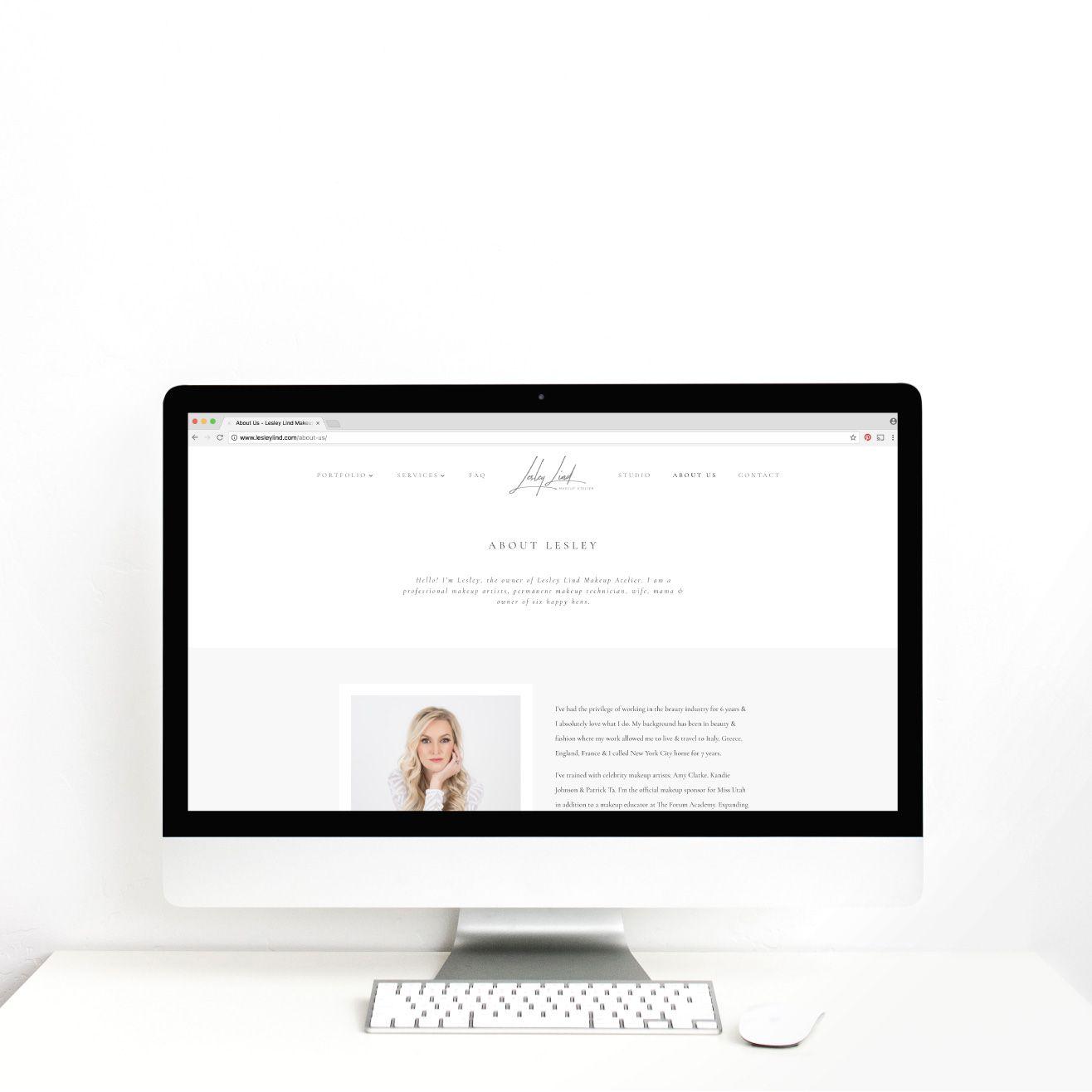 Brand Website Reveal Lesley Lind Makeup Atelier Utah Web Designer Mara Web Design Online Web Design Web Design Services