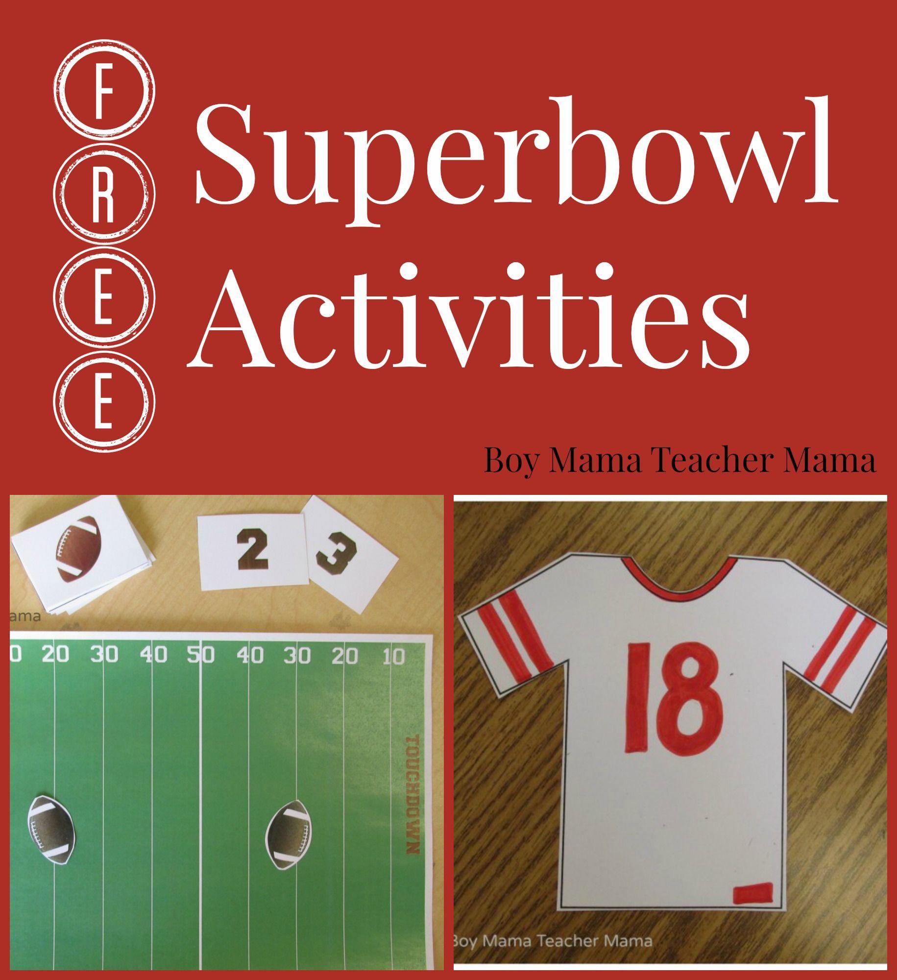 Teacher Mama Free Superbowl Activities Super Bowl Activities Third Grade Activities Fall Classroom Activities [ 2000 x 1831 Pixel ]