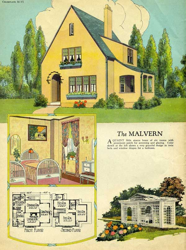 1925 Radford -- Malvern Love the design of the house, but this print ...
