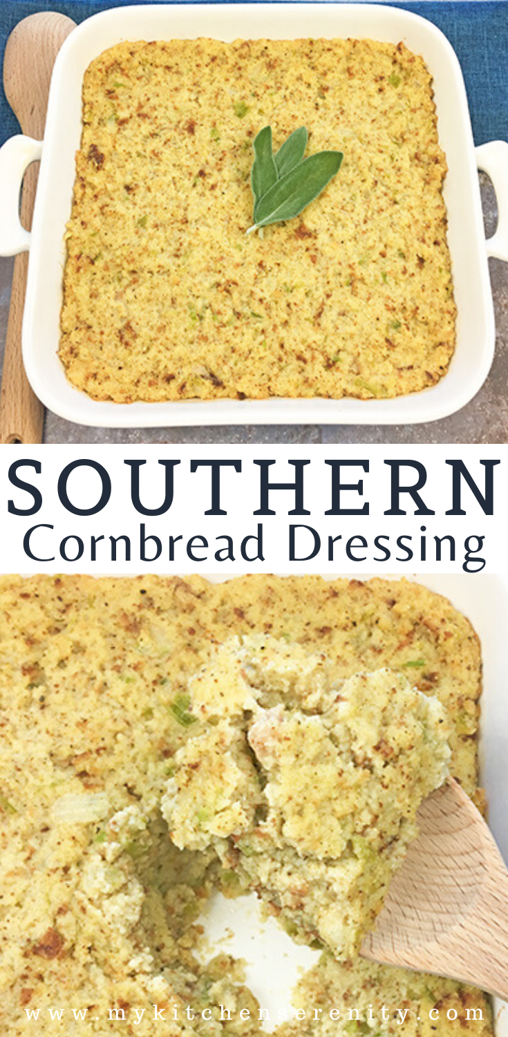 Southern Cornbread Dressing - My Kitchen Serenity