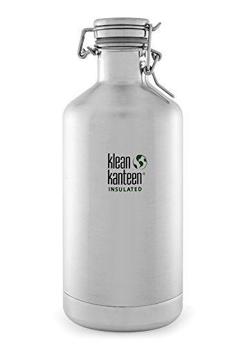 Klean Kanteen Brushed Stainless Classic Vacuum Insulated Growler Storage With Swing Lok Cap 64 Ounce Klean Kanteen Insulated Insulated Growler Klean Kanteen