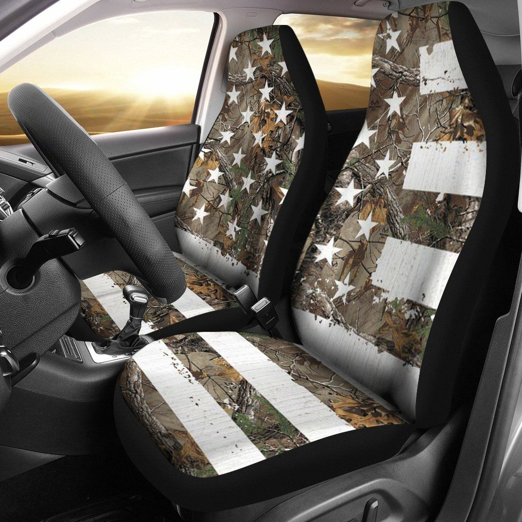 Camo American Flag Seat Covers Set Of 2 Camo Truck Accessories Seat Covers Camo Truck