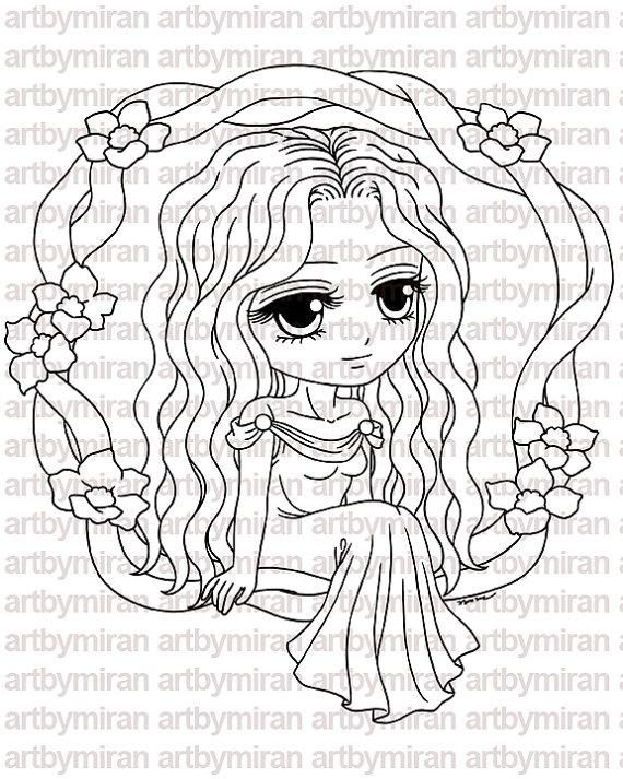 Sello digital Shea224 sello de Digi página línea por artbymiran