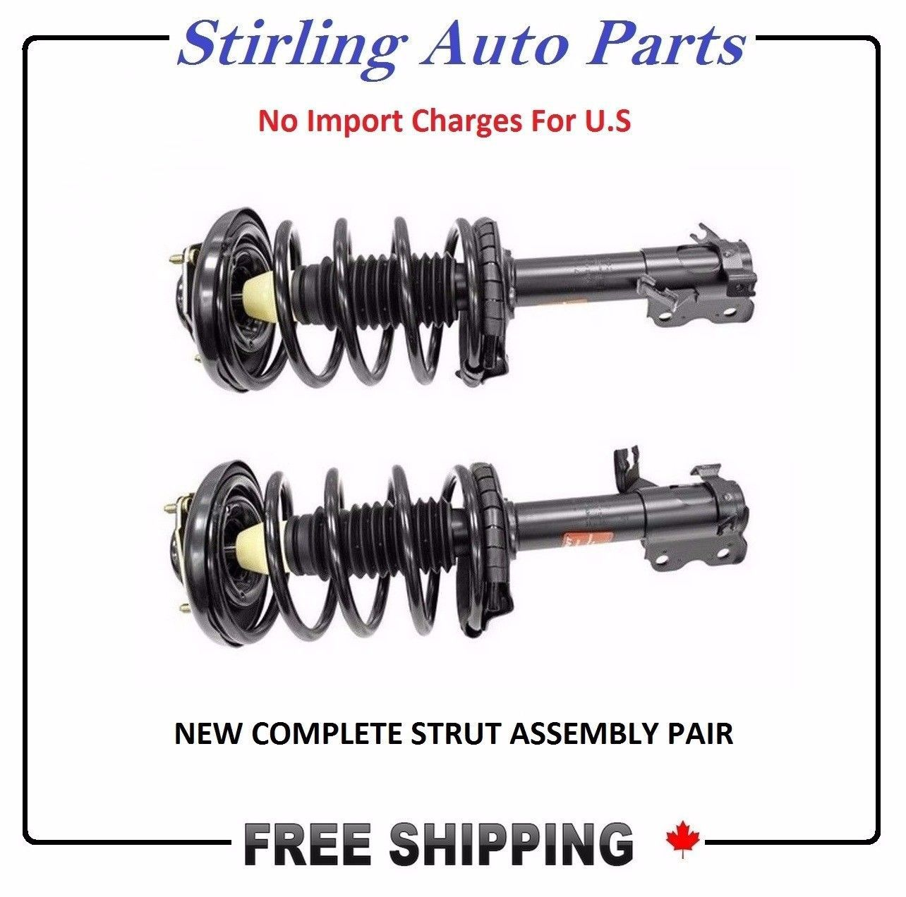 Complete Strut and Coil Spring Assembly Pair Fits Chevy