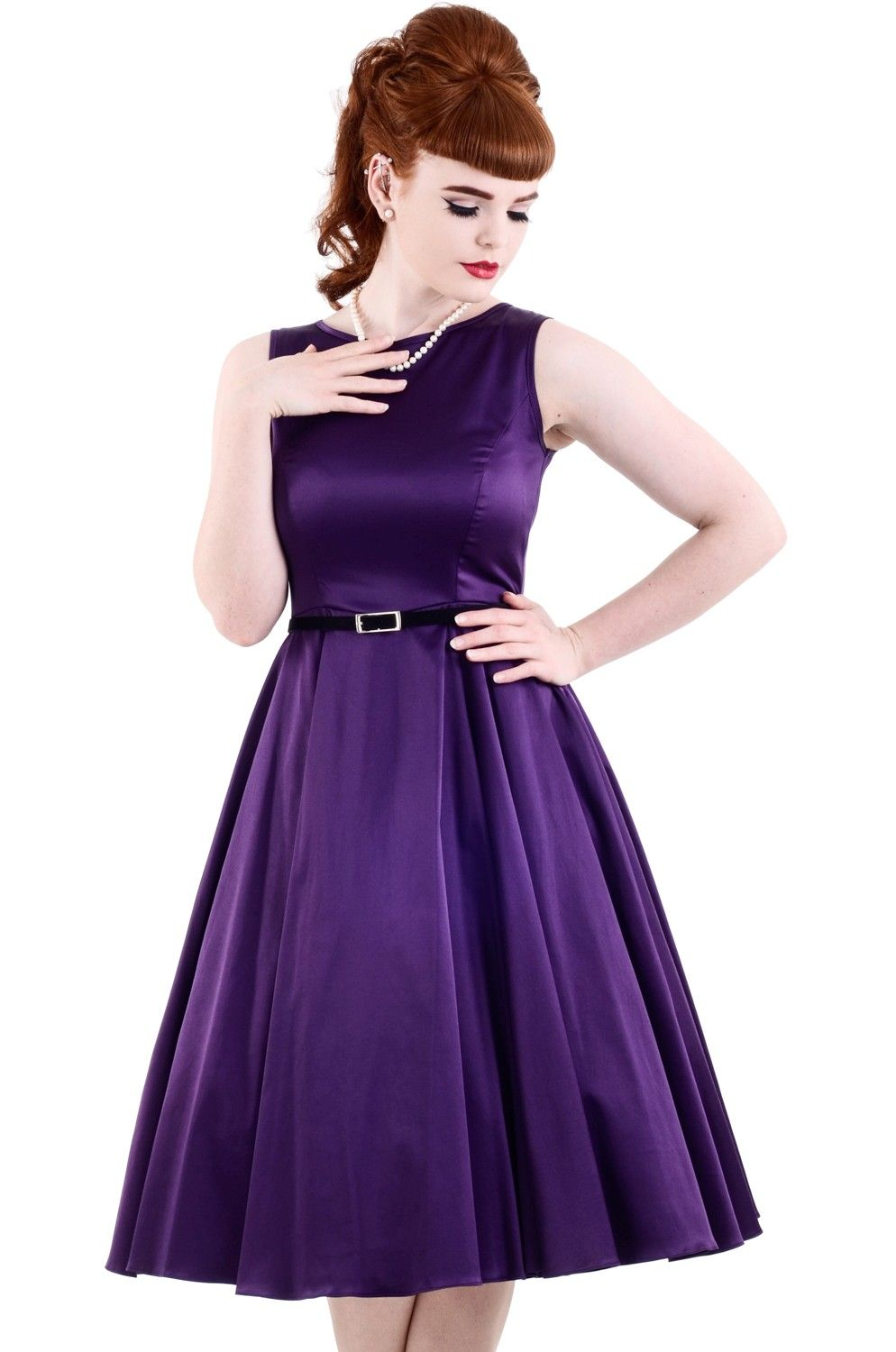 The Purple Hepburn Dress - £45. Made in London. | Fashion ...