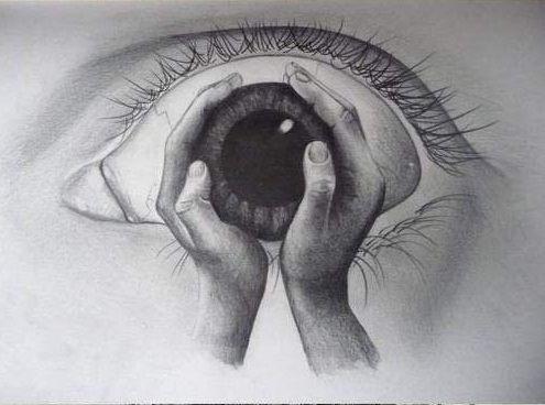 Creepy Hand Holding Eyeball Cool Pencil Drawings Cool Drawings