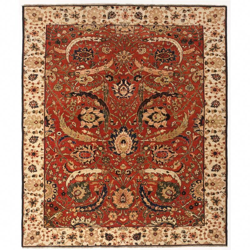 Hand Knotted Indian Rug 6 8 X 8 Carpetsatmenards Luxury Rug Rugs Beige Area Rugs
