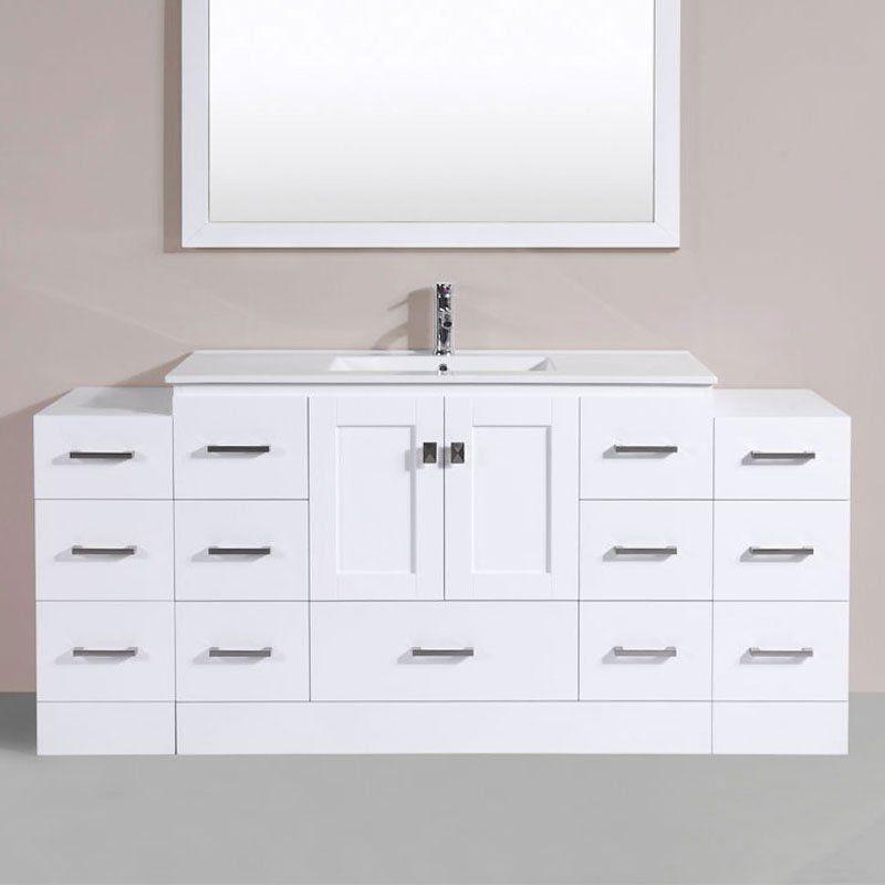 Pacific Collection Redondo 72 in. Single Bathroom Vanity - PVN-REDONDO-12-48-12-WH-INT