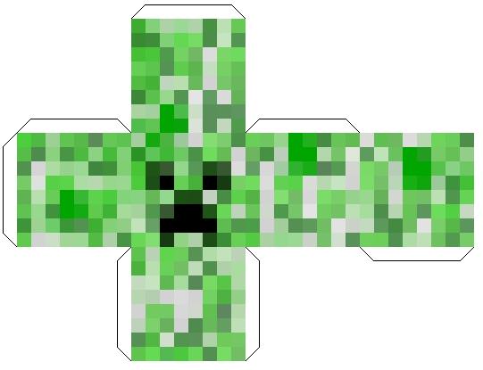 Papercraft Head Block Creeper Minecraft Printables Minecraft Blocks Minecraft