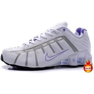 www.asneakers4u.com Womens Nike Shox NZ 3 OLeven White Purple Black