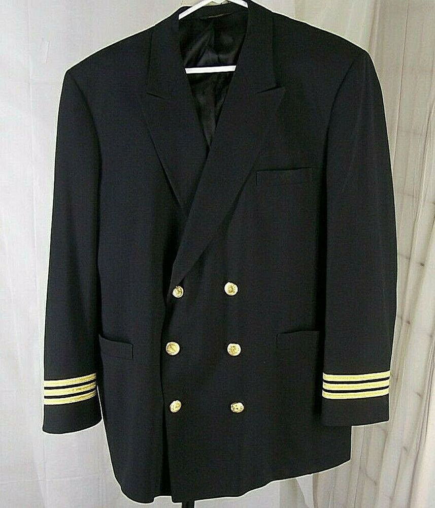 DELTA AIRLINE PILOT UNIFORM Jacket Wing Buttons Aviation