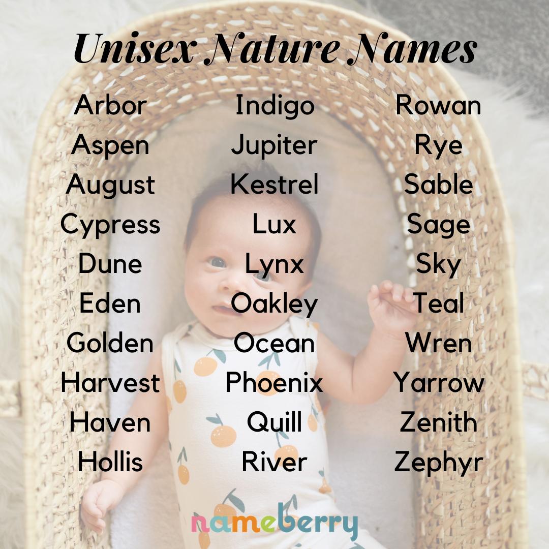 The Coolest Unisex Nature Names
