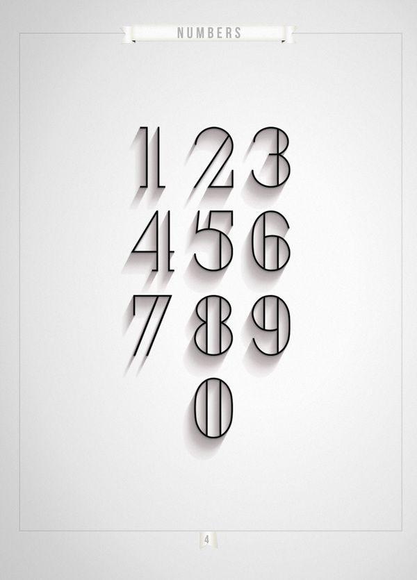 London Numerals Typeface Antonio Rodriquez Jr Typography