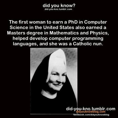 Sister Mary Kenneth Keller was also the first American to