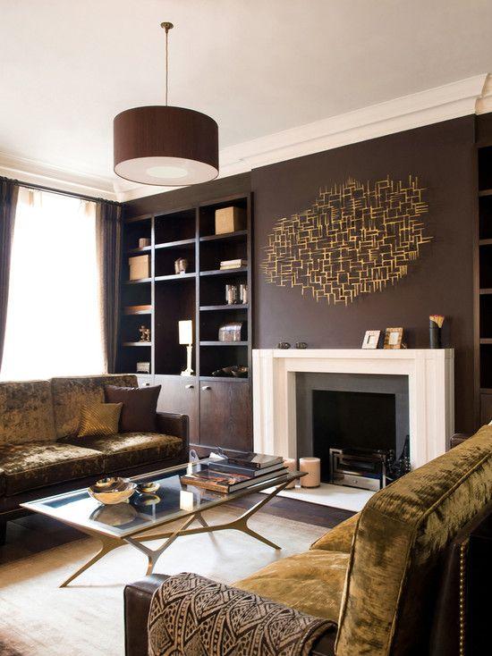 Entzuckend #Contemporary Room Interior Decor Photos Wandfarbe, Wohnzimmer Braun,  Zeitgenössische Wohnzimmer, Schlafzimmer,