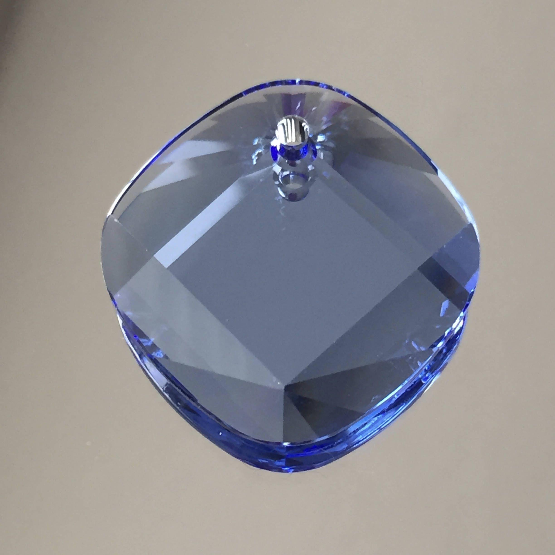 1ba38339f2f Swarovski Crystals - 25mm Blue Pendant -
