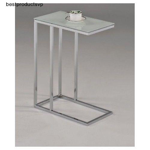Ebay Under Sofa Table Side Glass Top Chrome Modern Snack