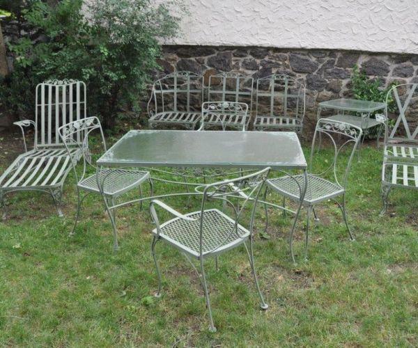 Vintage Schmiedeeisen Gartenmöbel - Lounge Sofa Überprüfen Sie mehr