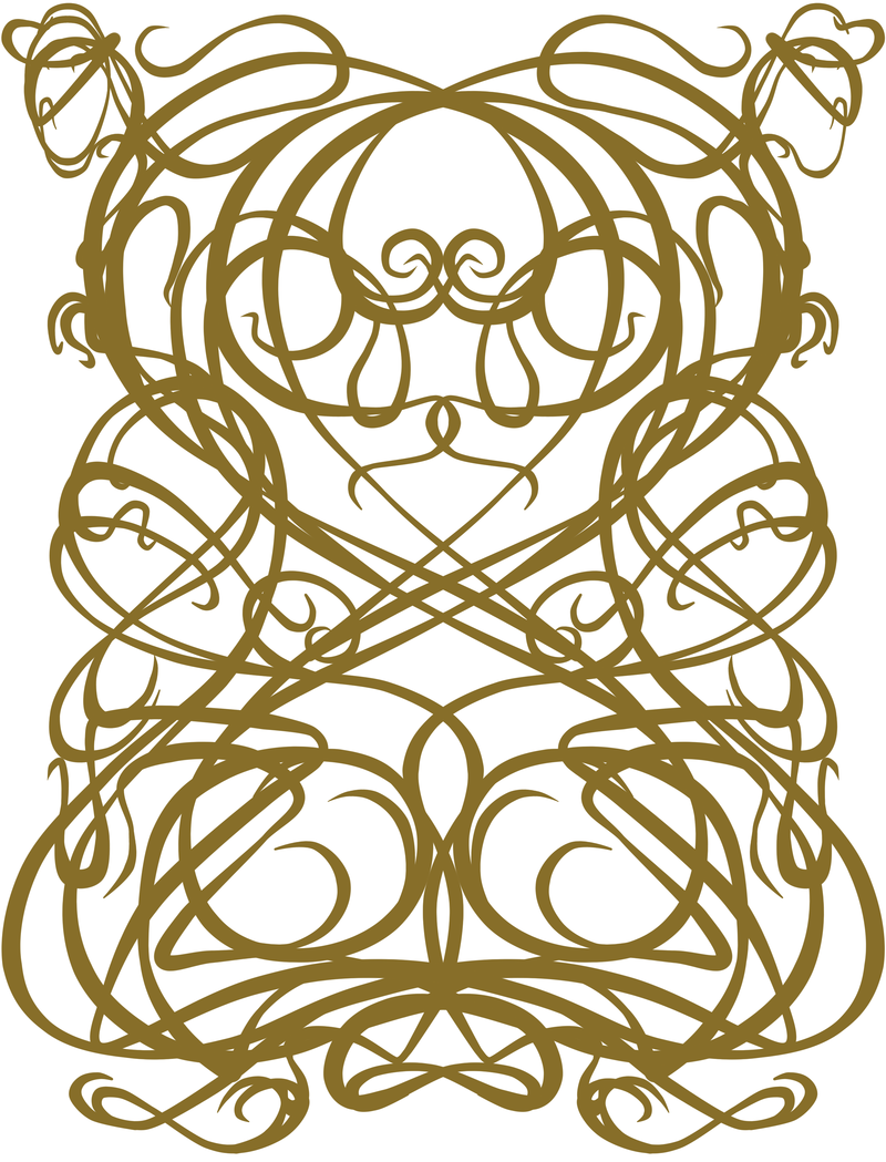 Art Deco Nouveau: Art Deco Pattern Mirrored By Kila