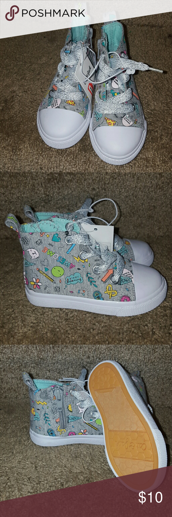 4e6c699d95 Cat and Jack Hi-tops size 6 Cute and stylish Hi-Tops for kids Cat & Jack  Shoes Sneakers