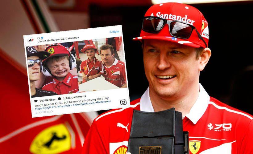 Kauden viidennen F1-osakilpailun sydäntälämmittävin tarina rakentui pienen, puna-asuisen Ferrari-fanin ympärille.