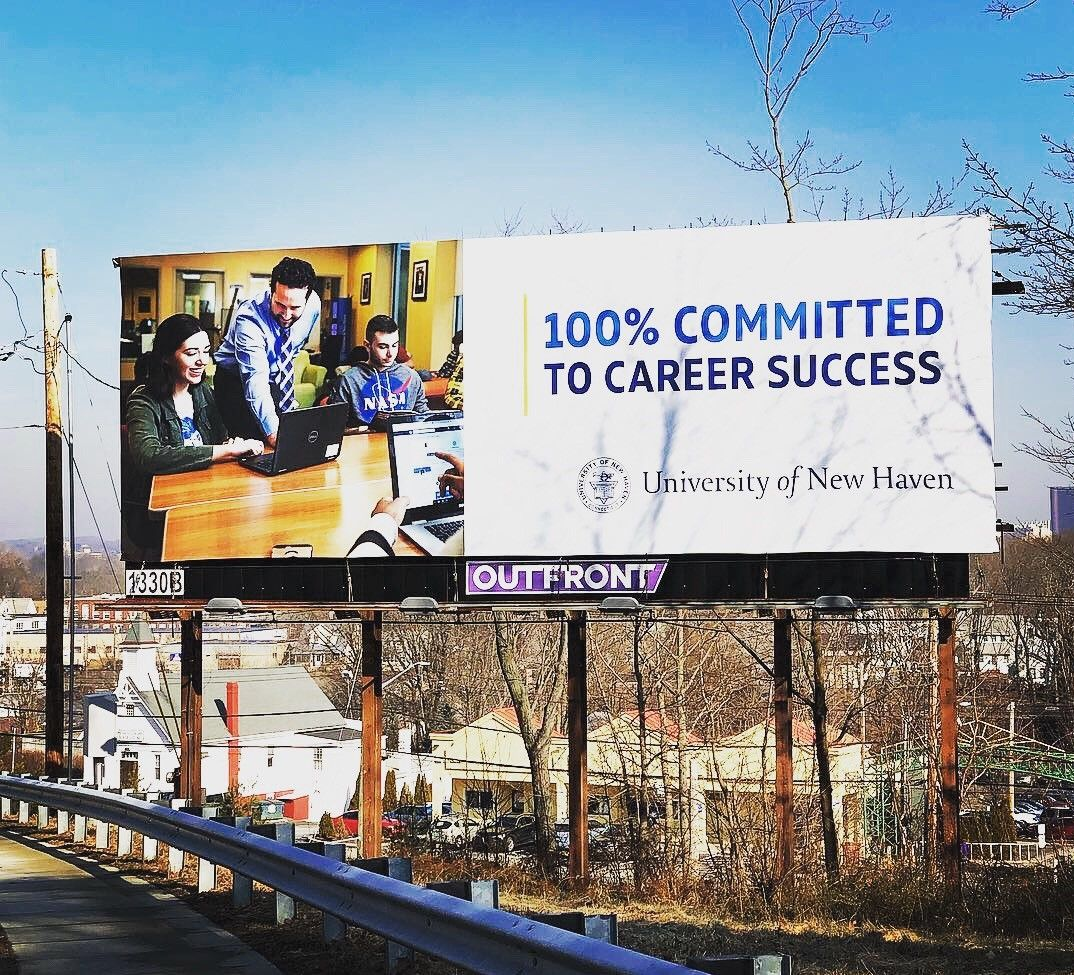 Our University Of New Haven Billboard Off Of Boston Post