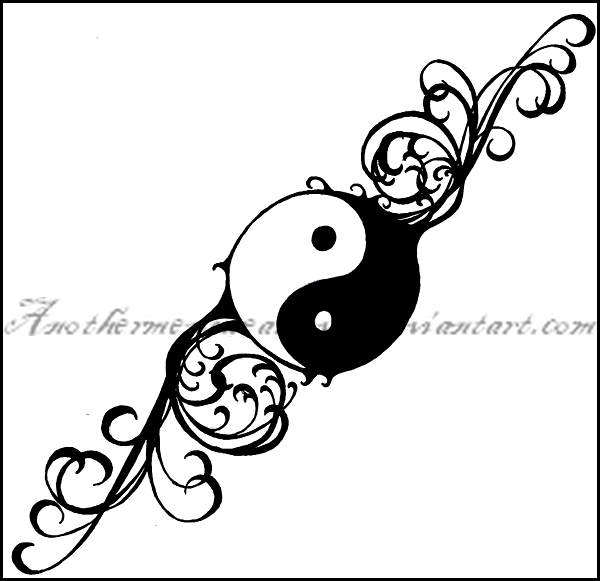Rose Yin And Yang Tattoo Yin Yang Tattoos Designs Pictures And