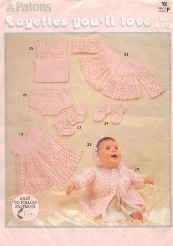 Patons 700 Layettes You ll Love | Baby things | Pinterest | Revistas ...