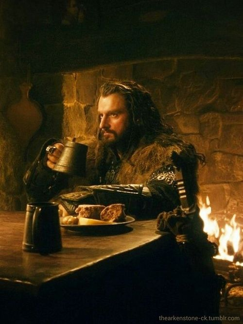 Thorin at the Prancing Pony in Bree, just before his first meeting with Gandalf and losing his way to Bag End