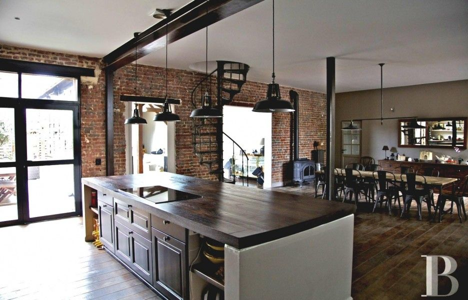 Best Kitchen Fascinating Rustic Industrial Kitchen Featuring 400 x 300