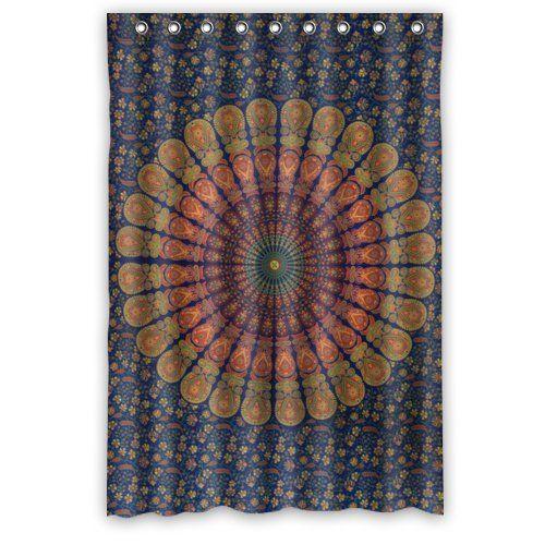 Special Design Cute Bohemian Waterproof Bathroom Shower Curtain 48Wx72H