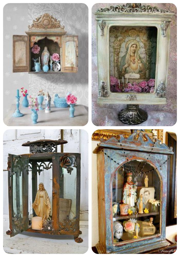 How To Turn A Decorative Lantern Into A Diy Saint Shrine