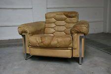 De Sede Haussmann Leather Swiss 1960s Vintage Lounge Chair Armchair Retro 70s Retro Armchair Vintage Lounge Chair Chairs Armchairs