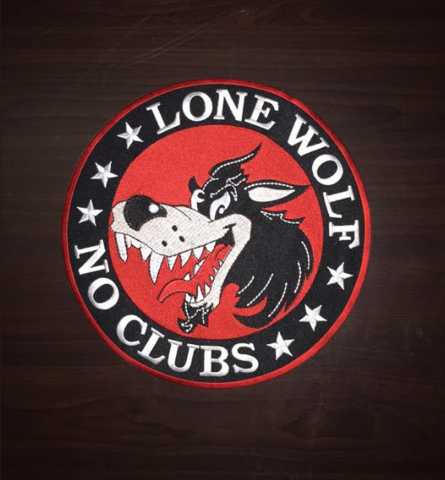 Lone Wolf Skull /& Flags Patch Patches Embroidered Custom Patches Biker Patches