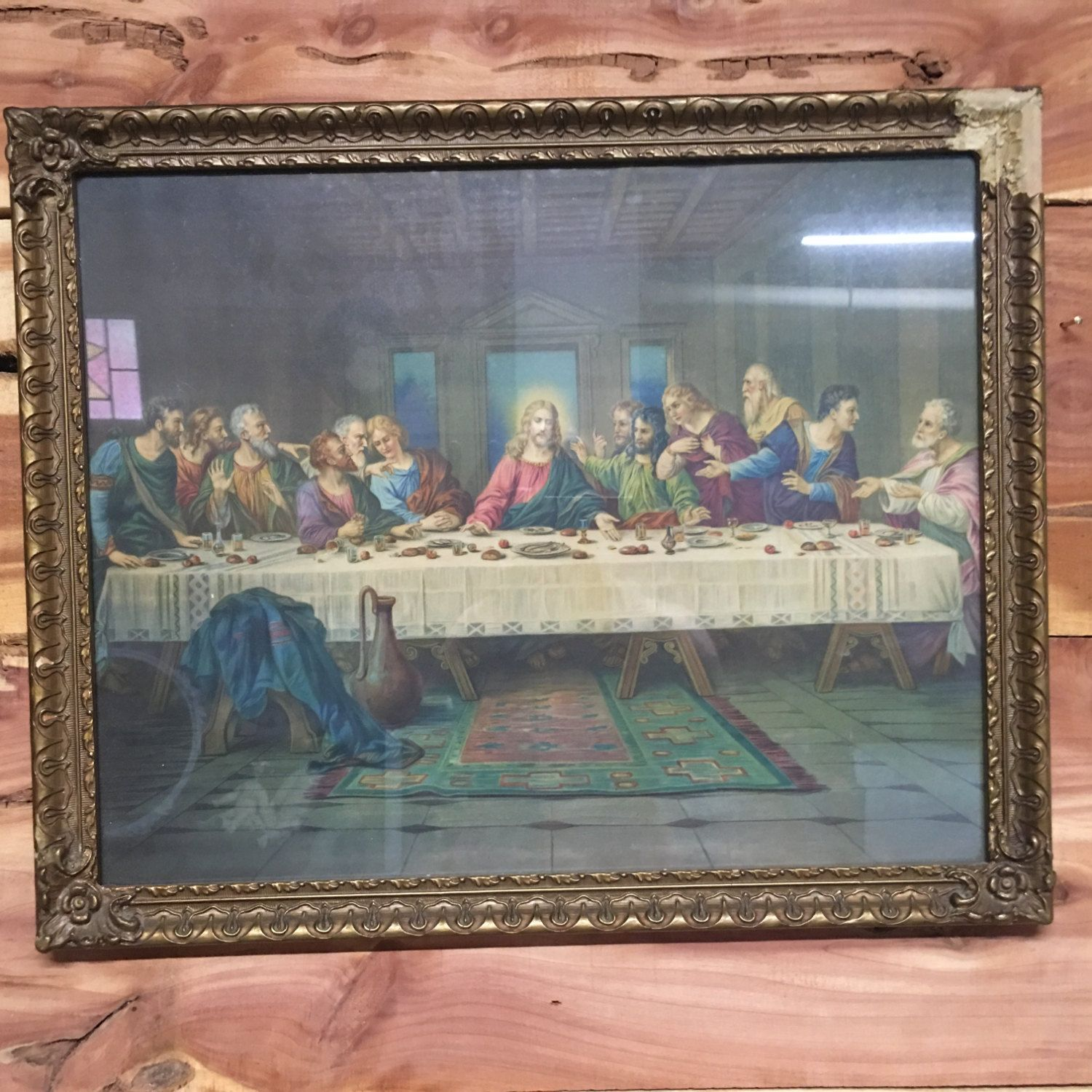 Last Supper, Jesus Last Super, Vintage Frame, Vintage Picture ...