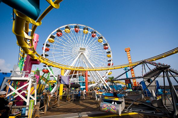 Santa Monica Pier A Cross Between Urban Culture And Socal Cool With Amut Rides Funnel Cakes Plenty Of People Watching