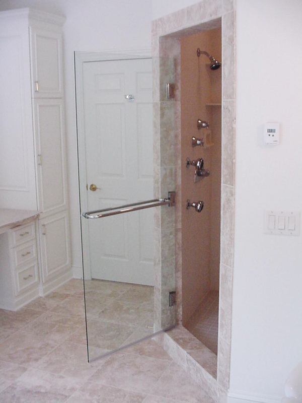 Frameless Glass Shower Door With Towel Bar On Both Sides Http