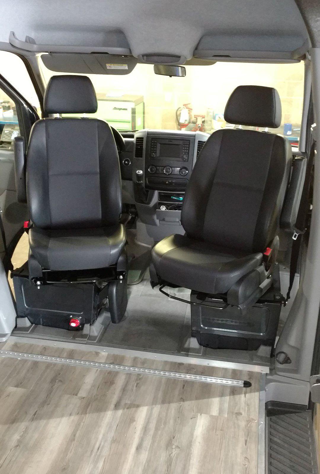 Sprinter Van Sportcraft Swivel Seats Installation Sprinter Van Tailgating Van Vans
