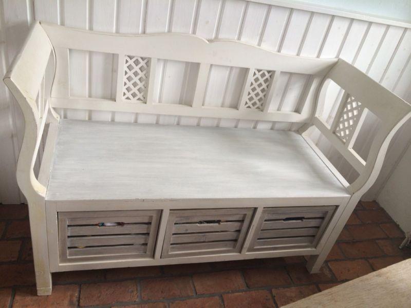 sch ne k chenbank mit schubladen ma e 115cm breit45cm tief44cm h he sitzfl che garderobe. Black Bedroom Furniture Sets. Home Design Ideas