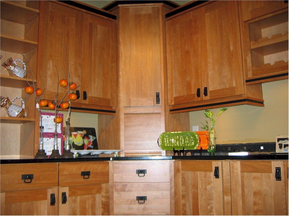 Birch cabinets on pinterest birch cabinets white appliances and birches - Photos of kitchen ...