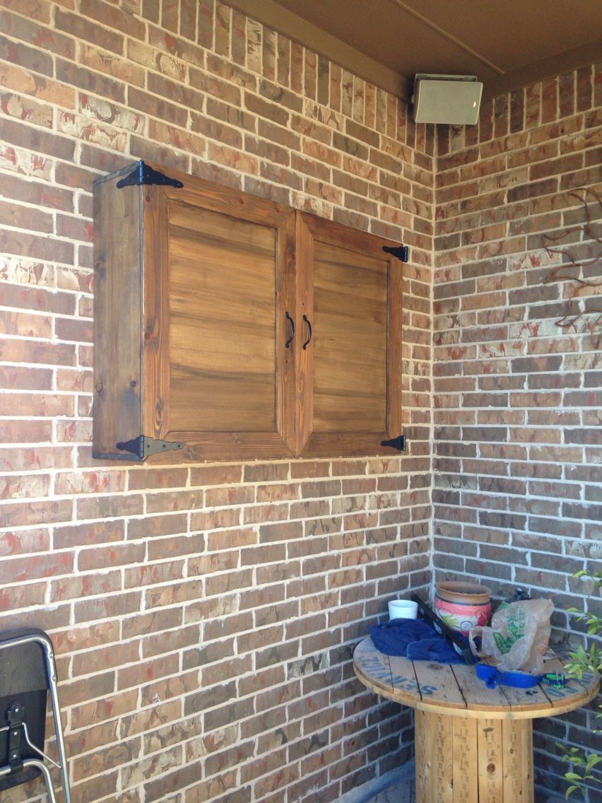 Outside tv cabinet | Home | Pinterest | TVs, Patios and Backyard