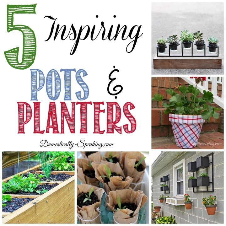 5 Inspiring Pots and Planters - great ideas to give your plants a new look.